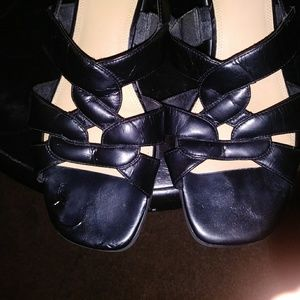 Life stride black sandal 9 1/2
